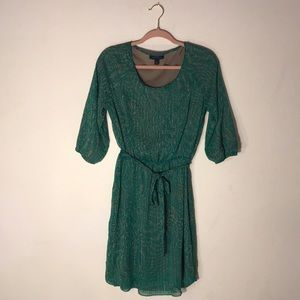 Banana Republic Green Long Sleeve Chiffon Dress 6